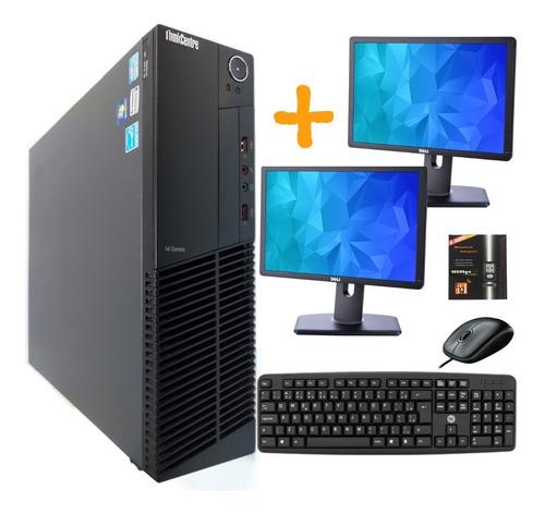 Computador Desktop Intel I5 8gb Ssd + 2 Monitores + Wi-fi
