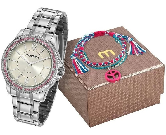 Kit Relógio Mondaine Feminino 53601l0mvne2kz C Garantia E Nf