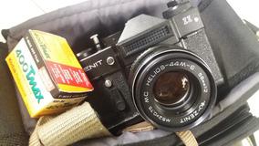 Câmera Fotográfica Analógica Zenit 11 Soviética! Com Flash!