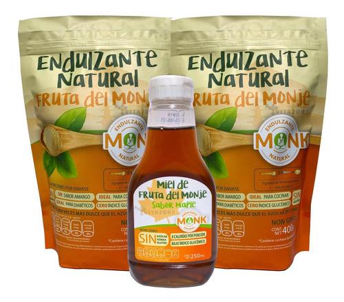 Imagen 1 de 5 de Fruta Del Monje Sustituto De Azúcar 400 Gr 2 Sobres Y 1 Miel