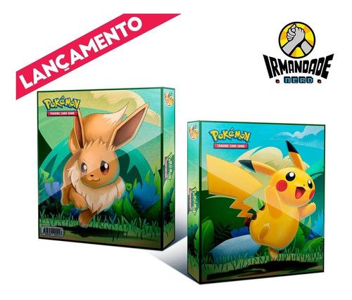Imagem 1 de 10 de Pasta Tipo Fichário Pokémon + 10 Folhas Yes + 9 Cards