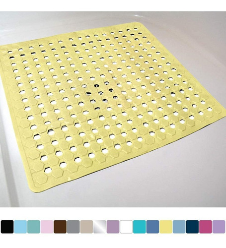 Imagen 1 de 4 de Alfombra De Ducha Con Orificios De Drenaje Con Diseño Hexago