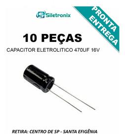 Capacitor Eletrolítico 470uf X 16v (10 Peças)