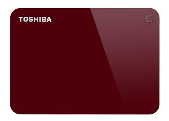 Disco rígido externo Toshiba Canvio Advance HDTC920X 2TB vermelho