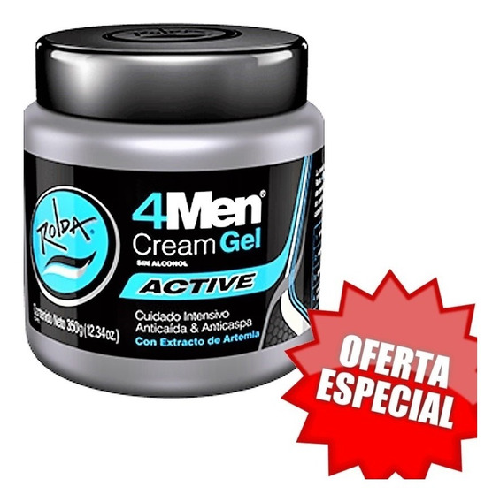 Rolda 4men Cream Gel Active - 350g (2 Pack)