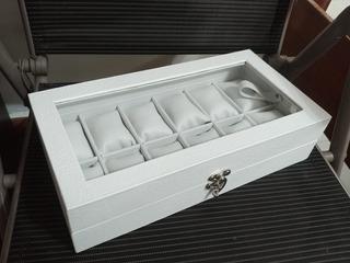 Organizador De Relojes Artesanal X12 Puestos Elegante Nuevo