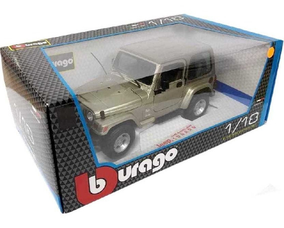 Burago Jeep Wrangler Sahara Tj Safari Bburago Escala 1/18