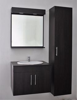 Mueble De Baño Con Lavamanos, Espejo Y Armario