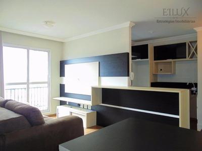 Apartamento Totalmente Mobiliado, 2 Quartos 1 Suíte, Reserva Das Torres. Uberaba - Curitiba - Parana - Ap0019