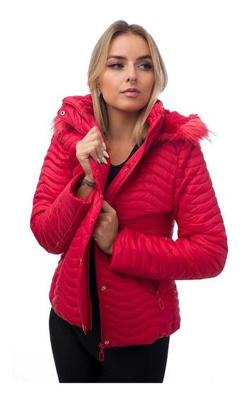 Jaqueta Feminina Acolchoada Casaco Frio Inverno