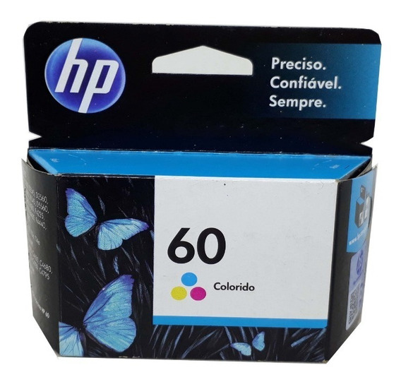 Cartucho Hp 60 Color Original Novo