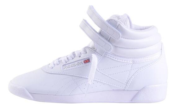 Zapatillas Botitas Reebok Classics Freestyle Mf Bco O Negro