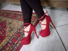 Sapatos Feminino Sandálias De Salto 15 Cm Festas