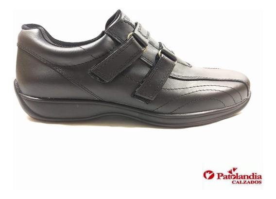 Zapatos Hombre Oxigeno Off Abrojo Cuero Negro N° 39 / 45