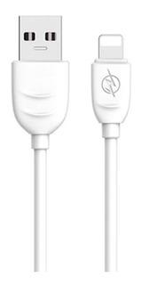 Cable Netmak Nm-116w Usb 2.0 A Lightning 2.4a 1m Blanco