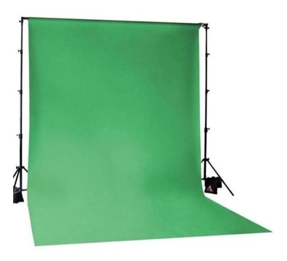 Tecido Fundo Infinito Chroma Key 3x5 100% Poliéster Verde