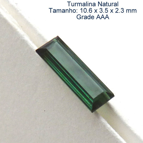 Turmalina Natural Pedra Preciosa Turmalina Verde 3081a