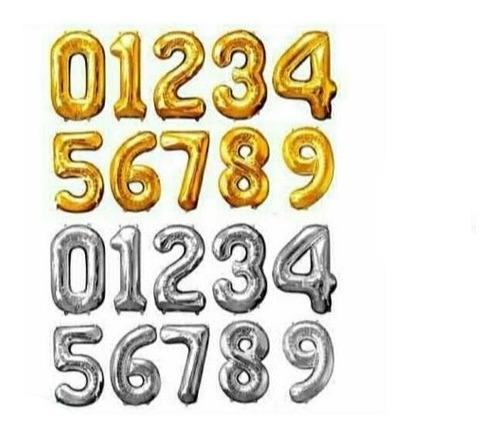 Imagen 1 de 2 de Globos Inflables Números 0 Al 9 Precio X Unidad