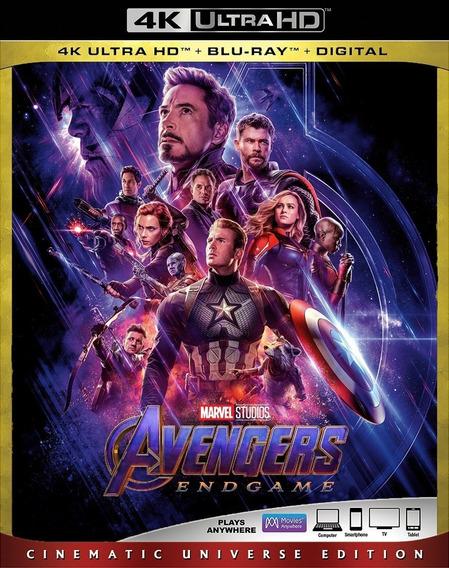 Marvel Avengers Endgame Y Capitana 2 Pelicula 4k Slipcover