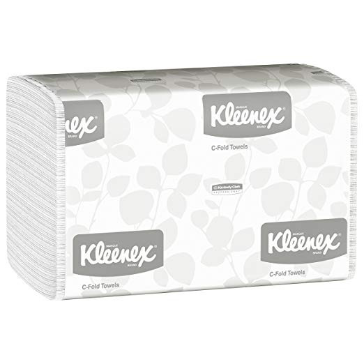 Kleenex C Fold Toallas De Papel (01500), Absorbente, Blanco,