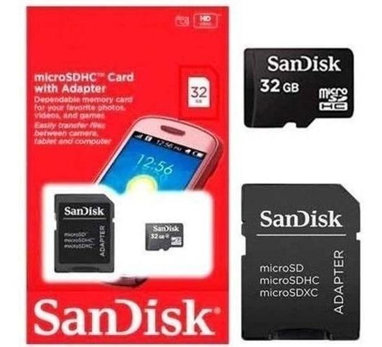 Cartão Memória Micro Sd 32gb Sandisk Hd