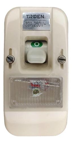 Interruptor Superficial Tipo Bticino Breaker 602 30amp