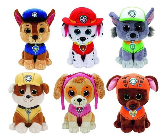 7 Peças Patrulha Canina + Everest Ty Beanie Boo