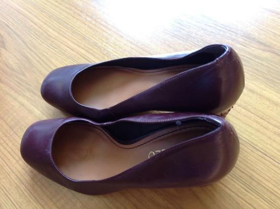 Sapato Scarpin Tamanho 35 Cor Vinho