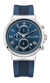 Reloj Baogela Para Hombre 1708-blue Color Azul Pantalla