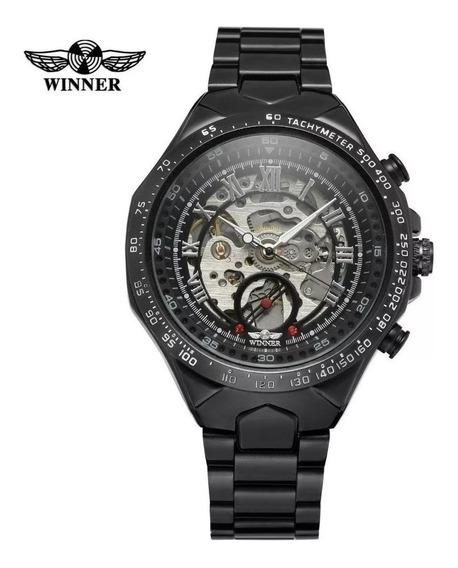 Relógio Winner Original Masculino Automático Aço Inox