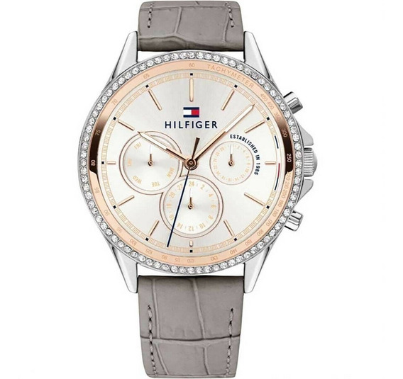 Relógio Feminino Tommy Hilfiger Couro Cinza - 1781980