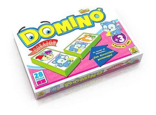 Imagen 1 de 3 de Domino Corazones Ploppy 340083