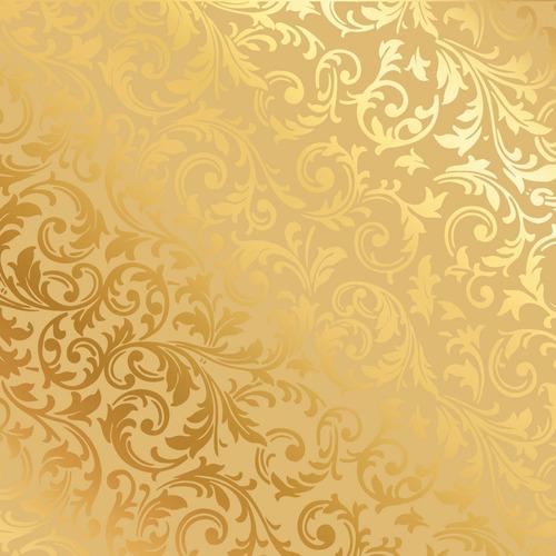 50 Sacos Metalizado Para Presente 10x14cm Arabesco Ouro