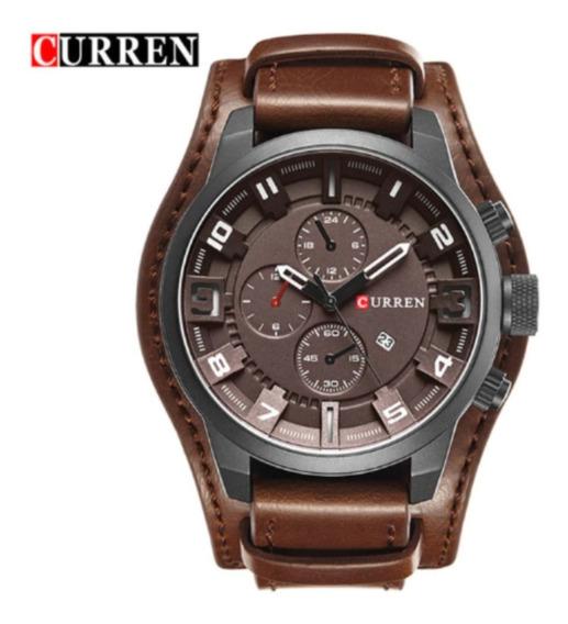 Relógio Curren Masculino Couro Importado Original 8225