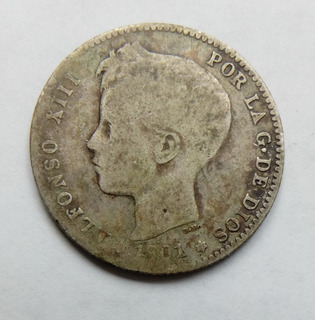 Moneda De Plata De 1 Peseta Año 1901 Ref 60