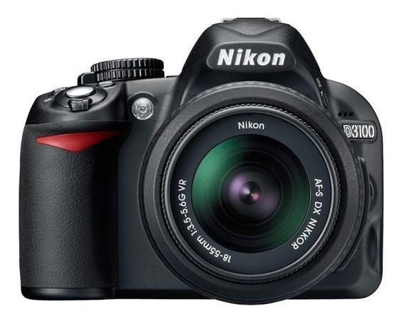 Câmera Nikon D3100 Com Lente 18-55mm + Maleta