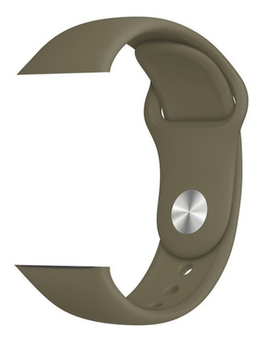 Pulseira De Silicone Sport Para Apple Watch 42/44mm - Khaki