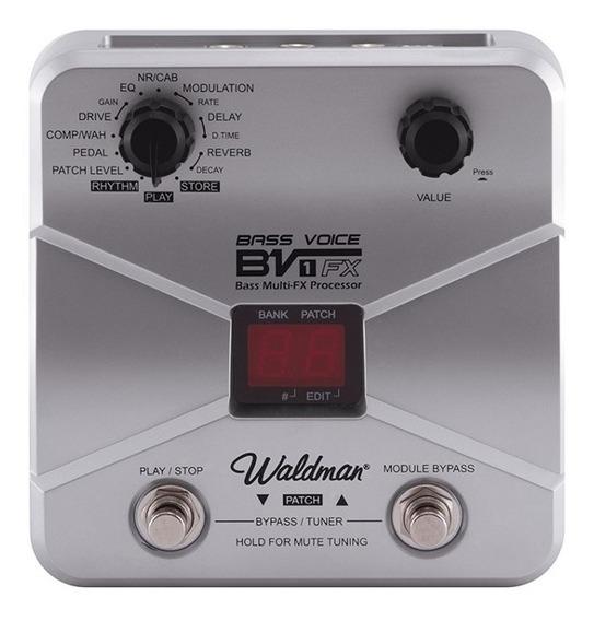 Pedaleira Baixo Multi-efeitos Bass Voice Bv-1fx Waldman + Nf