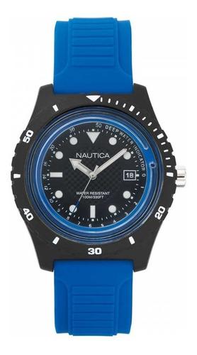 Imagen 1 de 5 de Reloj Nautica Ref. Napibz002 Pulso En Goma De Color Azul