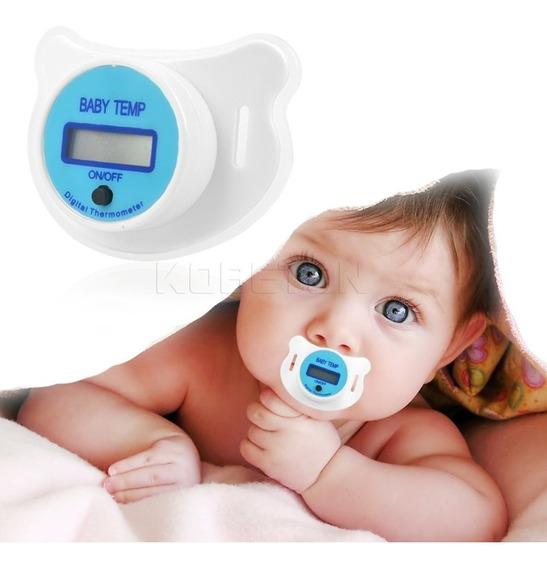 Chupeta Termometro Bebe Digital Eficaz Rosa E Azul