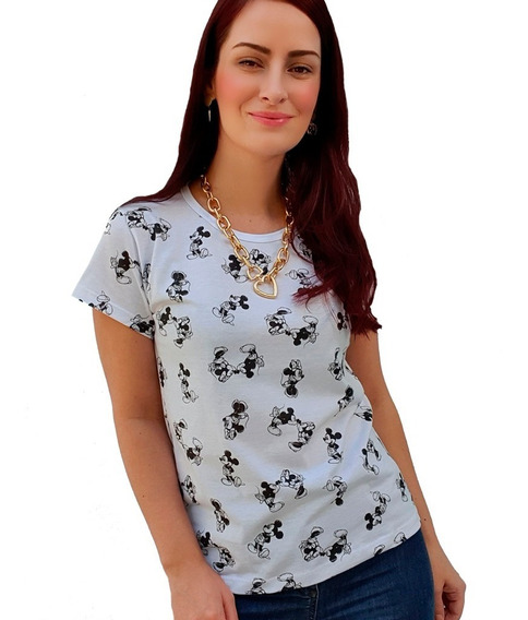 Atacado 6 T-shirt Camiseta Blusa Estampada Mickey Personagem