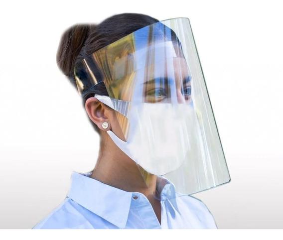 Protector Careta Facial Plástico Re-utilizable