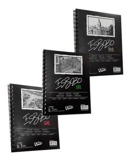Cuaderno De Boceto Esbozo A5 X 40 Hojas Lisas - 240 Grs