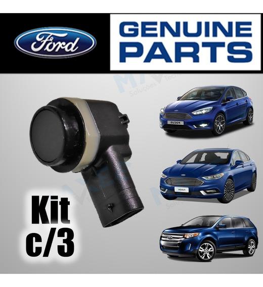 3 Un. Sensor Estacionamento Ford Edge Fusion Focus 2013/2020