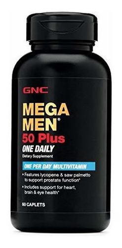 Gnc Mega Men 50 Plus One Daily Multivitamínico Para Hombres