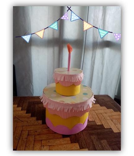 Imagen 1 de 2 de Caja Sorpresa - Torta De Cumpleaños