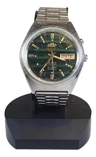 Antigo Relógio De Pulso Orient Crystal Verde