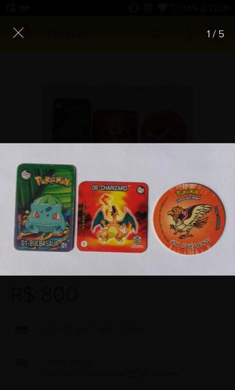 Coleçoes Tazo Pokemon