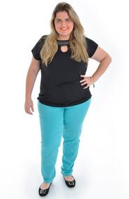 Calça Jeans Plus Size Colorida - Tamanho 46 Ao 62
