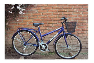 Bicicleta Rodado 26 Dama Con Equipamiento 18 Velocidades